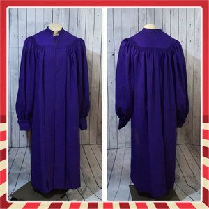 Vtg Regency Choir robe purple made in USA